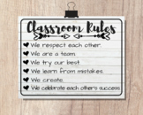 CLASSROOM RULES   8x10 Poster   Classroom Art Decor
