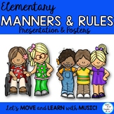 Classroom Rules and Manners Presentation & Posters: Character, Community, SEL