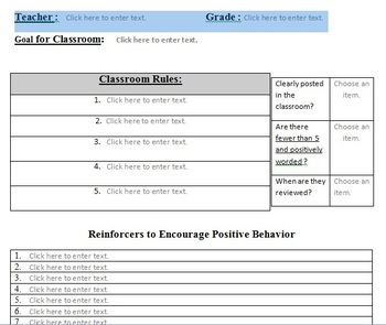CLASSROOM RULES AND PROCEDURES TEMPLATE