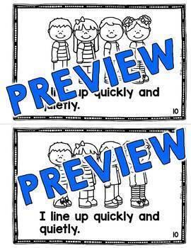 CLASSROOM RULES WITH VISUALS BOOK (BACK TO SCHOOL ACTIVITY KINDERGARTEN)
