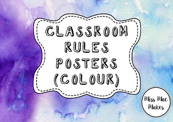 CLASSROOM RULES COLOUR POSTERS