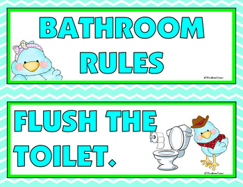 CLASSROOM RULES: Classroom Decor, Blue & Green, TWEET Theme, Rules Posters