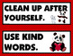 CLASSROOM RULES: Classroom Decor, Red & Black, Panda Theme, Rules Posters