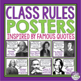CLASS RULES POSTERS: FAMOUS QUOTES