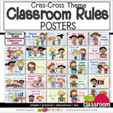 CLASSROOM RULES POSTERS  (Colorful Criss-Cross Theme)