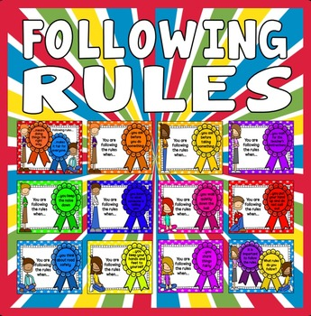 CLASSROOM RULES POSTERS - DISPLAY, BEHAVIOUR, EARLY YEARS EYFS, KEY STAGE 1