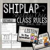 EDITABLE CLASSROOM RULES POSTERS - THINK SHEET - RULES BOO