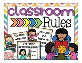 CLASSROOM RULES-WATERCOLOR RAINBOW
