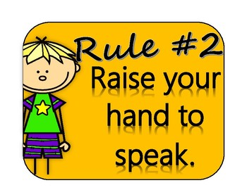 CLASSROOM RULES poster