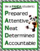 CLASSROOM SIGNS Classroom Management Panda Theme Classroom Decor Green Black