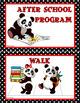 CLASSROOM SIGNS: Classroom Decor, Red & Black, Panda Theme,