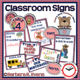 CLASSROOM SIGNS Classroom Management Navy Coral Theme Clas