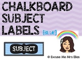 CLASSROOM SUBJECT LABELS - BLUE