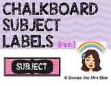 CLASSROOM SUBJECT LABELS - PINK