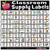 CLASSROOM SUPPLY LABELS BLACK DÉCOR