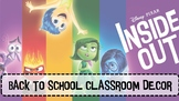 CLASSROOM THEME:INSIDE OUT CLASSROOM LABELS, NAME TAGS, BA
