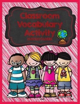 CLASSROOM VOCABULARY ACTIVITY