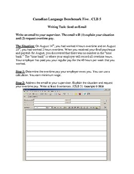 CLB5 ESL / LINC Writing Task: Send an Email