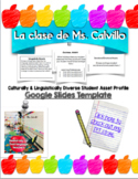 CLD Student Asset Profile Template