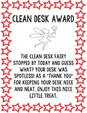 CLEAN DESK REWARD