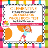 CLEMENTINE | PRINTABLE WHOLE BOOK TEST | 25 MULTIPLE CHOIC
