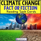 "CLIMATE CHANGE True or False TASK CARDS ""Task Box Filler"" for Special Education"