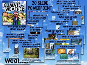CLIMATE vs WEATHER  People's adaptations to their environment SLIDESHOW