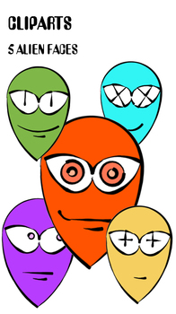 CLIP ART Alien Faces