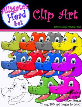 CLIP ART: Alligator Head