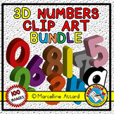 3D NUMBERS CLIPART BUNDLE(SOLID SHAPES CLIPART NUMBERS) MA