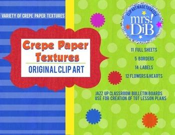 CLIP ART - Crepe Paper Textures  ORIGINAL ARTWORK