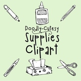 CLIP ART - Doodly-Cutesy - School Supplies