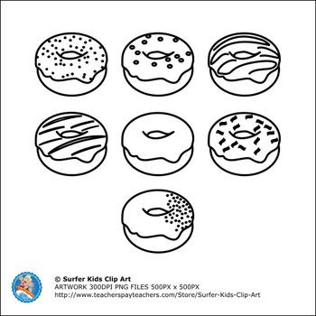 CLIP ART : FOOD : DONUTS