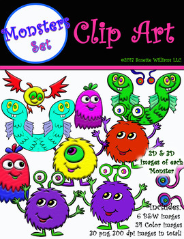 CLIP ART: MONSTERS