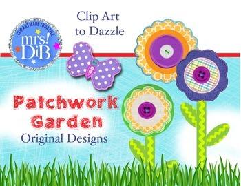 CLIP ART - PATCHWORK GARDEN Original Designs