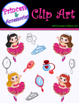 CLIP ART: Princess & Accessories