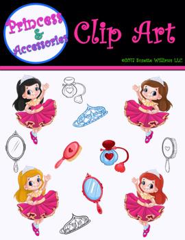 CLIP ART: Princess & Accessories