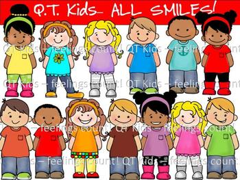 CLIP ART -  QT Kids - All SMILES for Brooke!