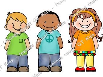 CLIP ART -  QT Kids - All SMILES for Brooke!