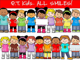 CLIP ART - QT Kids - ALL SMILES! - Personal and Commercial use