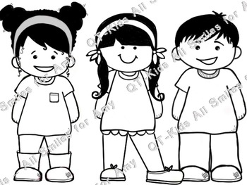 CLIP ART -  QT~Kids - ALL SMILES for Amy! - Personal and Commercial use
