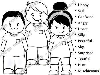 CLIP ART -  QT~Kids... Feelings Matter!  - Blackline Masters