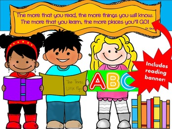CLIP ART -  QT~Kids LOVE Reading!  - Personal and Commercial use