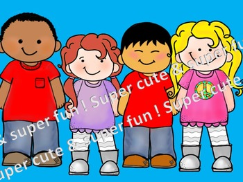 CLIP ART -  QT~Kids!  - Personal and Commercial use