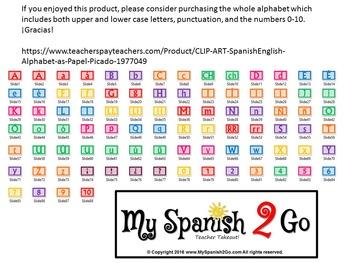 CLIP ART:  Spanish/English Alphabet as Papel Picado