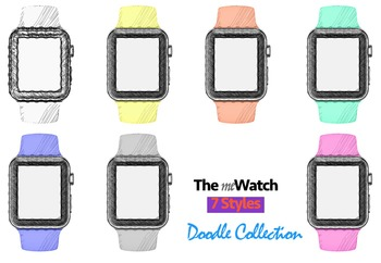 WATCH CLIP ART: meWatch Doddle [7 Colors]