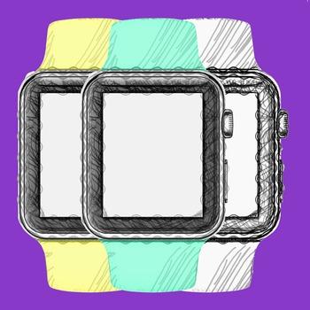 WATCH CLIP ART: meWatch Doddle [7 Colors]