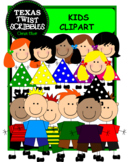 KIDS CLIPART BOYS and GIRLS {Texas Twist Scribbles}