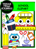 SCHOOL CLIPART {Texas Twist Scribbles}