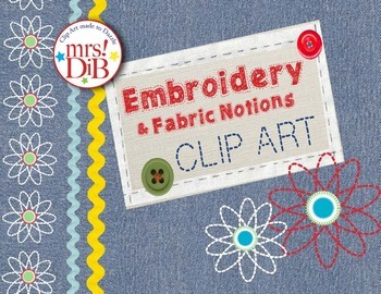 CLIP Art - Embroidery & Fabric Notions ORIGINAL DESIGNS & ARTWORK